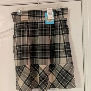 NWT...PLENTY by Tracy Reese darling plaid skirt.